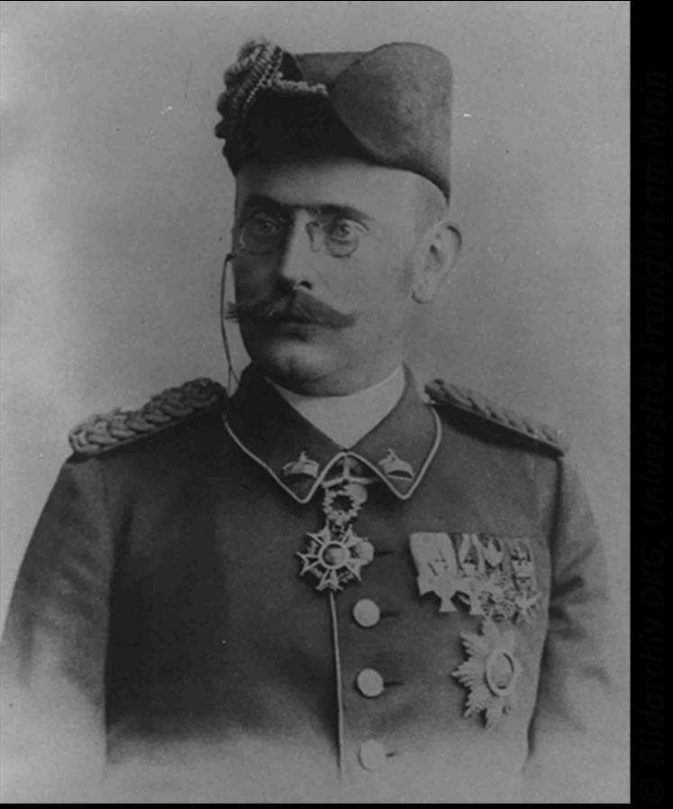 Porträt Karl Peters in Militäruniform Bildarchiv DKG, Universität Frankfurt am Main